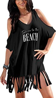 QIUYEJUO Womens Loose Swimwear Cover UPS Bikini Swim Beach Wear Cover up Dress