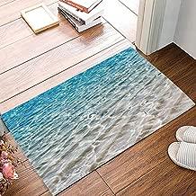 FAMILYDECOR Ocean Themed Door Mat Rugs, 20x31.5 Inch Indoor/Outdoor Non Slip Entrance Front Door Doormat for Bathroom/Kithchen/Bedroom/Living Room, Blue Sea Water Waves