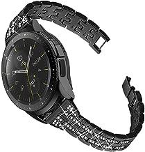 Joyozy Compatible with Samsung Galaxy Watch 42mm Band, Gear Sport SM-R600/ Gear S2 Classic SM-R732/SM-R735 Gear S4 Strap 20mm Watch Bracelet Diamond Wristband (Black)
