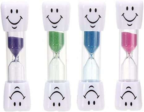 SMILE TOOTH Sand Timer Toothbrush Toys 2//3 Minutes Dental Hygiene Brushing