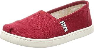 حذاء رياضي TOMS للأطفال للجنسين، أحمر، 11 طفل صغير أمريكي