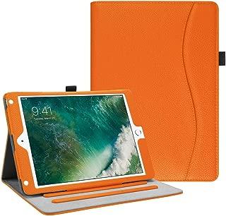 Fintie iPad 9.7 2018 2017 / iPad Air 2 / iPad Air Case - [Corner Protection] Multi-Angle Viewing Folio Cover w/Pocket, Auto Wake/Sleep for Apple iPad 6th / 5th Gen, iPad Air 1/2, Orange