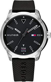 Tommy Hilfiger 1791622 Mens Quartz Watch, Analog Display and Plastic Strap, Black
