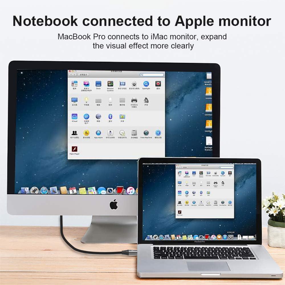 7680x4320 @60Hz 4K@144Hz Mini DP to Mini DP DP 1.4 8K Ultra HD Cable Converter Compatible with MacBook Pro MacBook Air 2m CABLEDECONN Mini DisplayPort 1.4 to Mini DisplayPort 8K