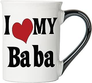 Cottage Creek Baba Gifts Large18 Ounce Ceramic I Love My Baba Coffee Mug/Baba Mug Best Baba Cups [White]