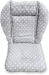 High Chair Pad, Amcho Baby Stroller/highchair/car Seat Cushion Protective Film Breathable Pad (Gray Background Stars Pattern)