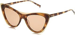 نظارات شمسية كونكريت جانغل باطار عين القط للنساء من دي كيه ان واي، لون تورتويس كهرماني