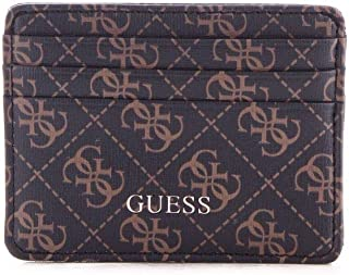 Luxury Fashion | Guess Mens SM2641POL25BROWN Brown Card Holder | Fall Winter 19