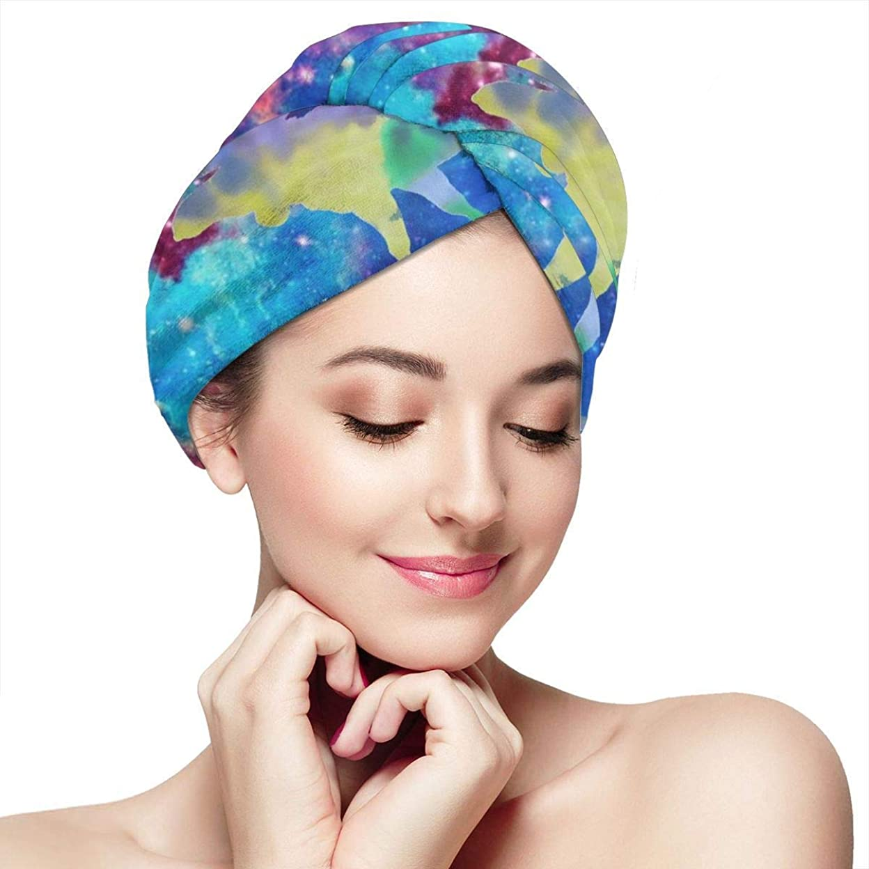 準備するとは異なりあたり潮干しの中で髪を乾かすタオルクラッシュしたラップターバンバスシャワーヘッドタオル女性のためのクイックマジックドライヤーハット吸収性すばやく帽子カーリーハンズフリーの髪のための反縮れ