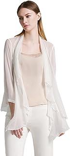 法涵意弛真丝薄款开衫外套女上衣 2016欧美夏装新款桑蚕丝防晒衫