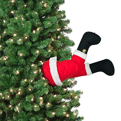Mr. Christmas 16' Long Battery Operated Motion Activated Animated Santa Kicking Legs for Indoor USE ONLY