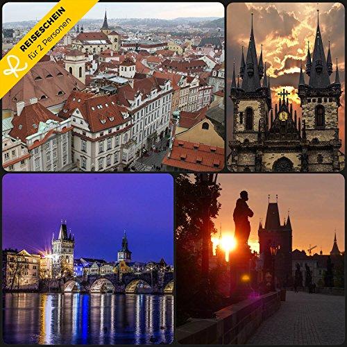 Reiseschein - 3 Tage für 2 Personen im **** Hotel Louis Leger in Prag erleben - Gutschein Kurzreise Kurzurlaub Reise Geschenk