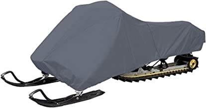 300 Denier Water-Repellent Snowmobile Storage Cover with Waterproof Seams fits Arctic Cat, Polaris, Ski Doo, Yamaha in Grey (up to 125