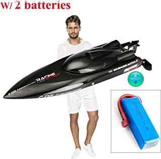 SOWOFA ft011 Remote Control Boat 2019 Upgrade 34.2 mph (55km/h) w/ 2 Batteries (2800mAh & 2200mAh Batteries ) Brushless Motor RC Speedboat for Adults Boys Hobby Lake 25.5' Inches Feilun FT011 RC Boat