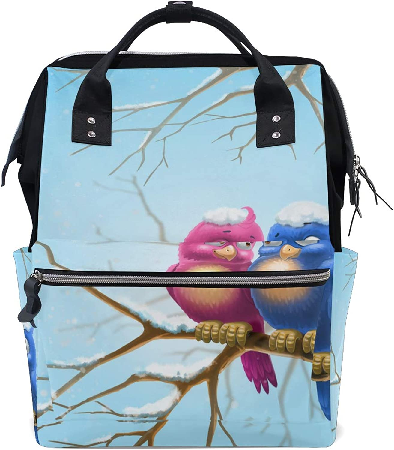 ColourLife Diaper bag Backpack Birds In The Branch Tote Bag Casual Daypack Multifunctional Nappy Bags