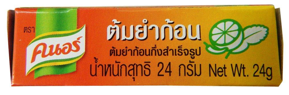 Knorr Tom Yum Seasoning Bouillon Cubes 24g, (Pack of 24)