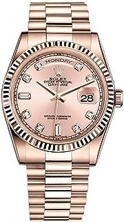 Rolex Day-Date President 36 Everose Gold Watch 118235 Diamond Dial