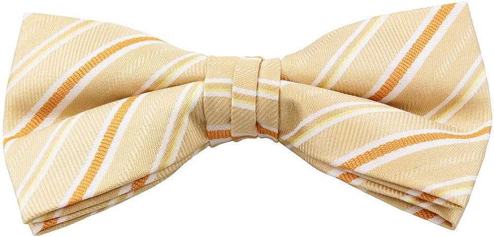 Jacob Alexander Men's Stripe Pre-Tied Clip-On Bow Tie