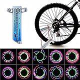 32LED Flash Luz de Rayo de Rueda de Bici - Luz LED de Rueda de Bicicleta MultiColor Lámpara de Bicicleta Impermeable
