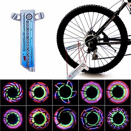 Oświetlenie koła rowerowego 32-LED szprychy światła obręcze wodoodporne oświetlenie rowerowe kolorowe opony
