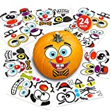"ArtCreativity Halloween Pumpkin Decorating Stickers - 24 Large Sheets - Jack-o-Lantern Decoration Kit - 52 Total Face Stickers - Cute Halloween Decor Idea - Treats, Gifts, and Crafts for Kids- 6"" x 9"""