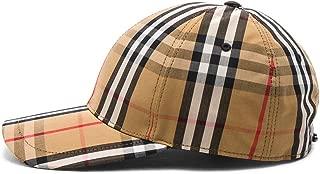 Men's Antique Check Cotton Baseball Cap Hat