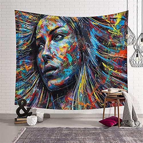 Tapiz de Mandala indio colgante de pared sol Luna Tarot tapiz de tarjeta tapiz psicodélico tapiz de tela de pared A12 73x95cm