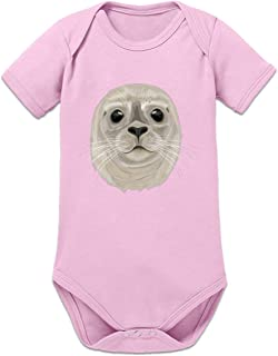 Shirtcity Robbe Seehund Baby Strampler by