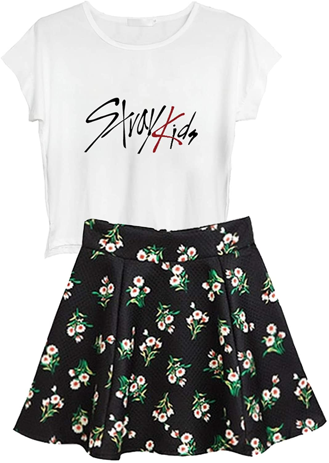KPOP Ikon Seventeen Stray Kids Twice + Floral Bombing OFFicial store new work One Skir Top Wanna