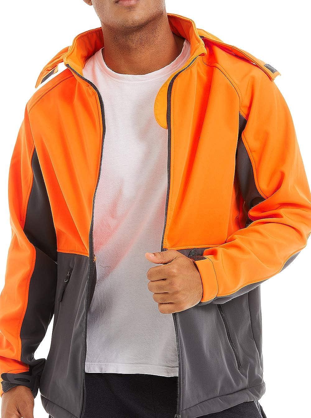 TACVASEN Mens Fleece Jacket Windproof Outdoor Jackets Waterproof Softshell Jacket with Hood Tactical Military Jackets