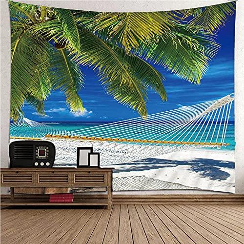 QWEFGDF Decoración de tapiz Tapiz colgante de pared decoración, fondo de dormitorio de sala de estar 100x150 cm Amaca da spiaggia