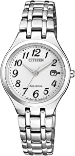 Citizen Women's Solar Powered Wrist watch, stainless steel Bracelet analog Display and Stainless Steel Strap, EW2480-83A