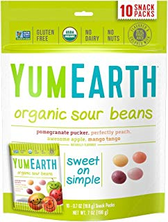 YumEarth Organic Jelly Beans, 10 snack packs