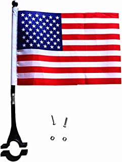 AISHEMI Kids Bike Accessories Cycling Handlebar Safety Flag Pole Polyester Full Color Tear-Resistant Waterproof Flag American Flag