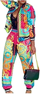 Tootess Women Elegant Digital Printed Tops Outwear and Pants Sets