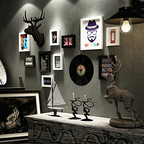Peinture décorative femme Vêtements magasin le salon murs dans les Coiffeur image murale antique peinture murale massivhol zdass astuces Marron Tête de cerf à branche que