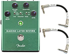 Fender Marine Layer Reverb Guitar Pedal with Cables (Beginner Bundle)