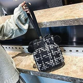 Fashion Single-Shoulder Bags Leisure Fashion Shoulder Bag Messenger Bag (Black) (Color : Black)