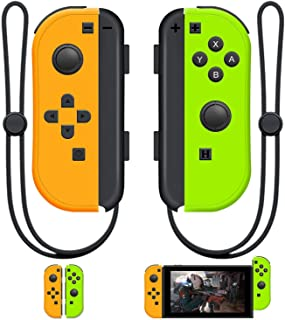 SINGLAND Joy Con Wireless Controller Replacement for Switch, Left&Right Remote with Wrist Strap Support Wake-up Function(G...