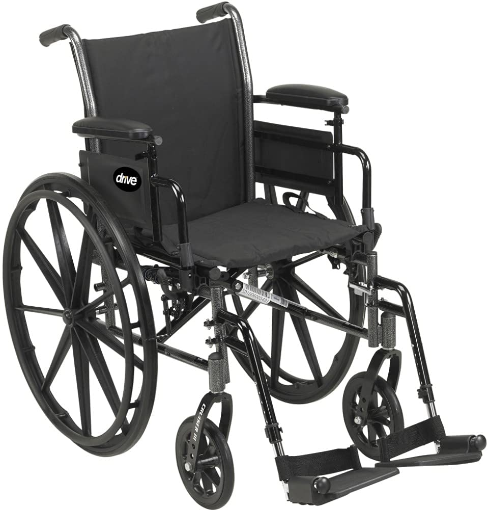 Drive Medical Cruiser III Latest item Light Flip Back Oakland Mall Wheelchair with Weight
