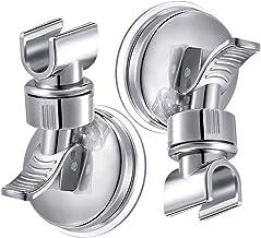 Soporte de ducha con ventosa 2 piezas, INTVN Para Montar en la Pared, no Requiere Taladros, Plástico ABS Cromado Pulido