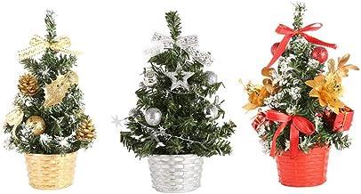 TOYANDONA 3pcs Mini Christmas Tree Small Pine Tree Mini Christma Pine Trees Artificial Sisal Snow Frost Trees for Xmas Hol...