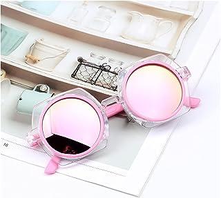 TAIYUAN - Gafas de sol para niños Pink Square Kids Gafas de sol Girls Blue Silver Red Niños Gafas Bebé Bebés Bebé Personalizado EyeGlasses Tendencias 2021 Cool Vogue Regalo decoración ( Lenses Color : C05 )