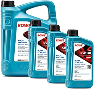 8 Liter (5L+3L) ROWE HIGHTEC MULTI SYNT DPF SAE 5W 30 Motoröl Made in Germany