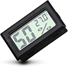 TXYFYP 2 in 1 Kit Voiture /Électronique Horloge Thermom/ètre,Affichage Num/érique,Int/érieur et Ext/érieur Double Temp/érature Mesure Outil avec R/étro-/éclair/é Fonction Noir Free Size