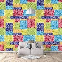 QHZSFF 壁画壁紙 ペイントアート 3D 写真の壁紙寝室の壁の家の装飾現代のクリエイティブリビングルームの子供の部屋の壁壁画 200 x 140cm