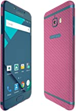 Skinomi Pink Carbon Fiber Full Body Skin Compatible with Samsung Galaxy C5 Pro (Full Coverage) TechSkin with Anti-Bubble C...