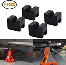 Jack Pad Jack Lift Pad Adapter Tool Adapter Jack Stand for 2-3 Ton Universal Jack Rubber Slotted Frame Stand Rail Pinch welds Protector (4 Pack)