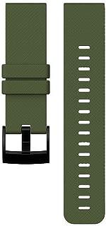 New Suunto Traverse Dark Green Silicone Strap AW16 PVD Black Brush Buckle