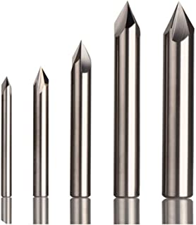4 Flute Kodiak Cutting Tools KCT254324 USA Made Double End Solid Carbide Chamfer Mill 120 Degree 3//16 Shank 3//16 Diameter 2-1//2 Overall Length